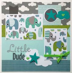 Baby boy scrapbook page 12x12 premade boy by ohioscrapper on Etsy