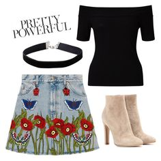 """""""Pretty powerful"""" by alicefox149 on Polyvore featuring Gucci, Miss Selfridge and Gianvito Rossi"""