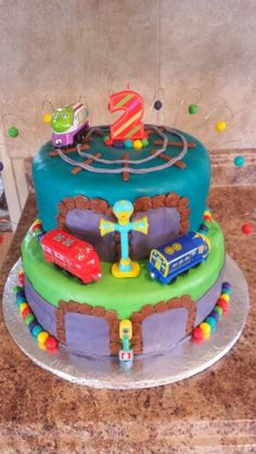 Chuggington three trainees cake Chuggington cake Third and Cake