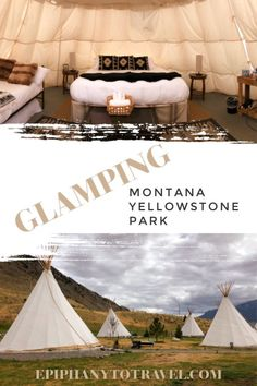Want to get out of your comfort zone a little, but not too much?  Try Glamping!  One the best places to give it a try is in the beautiful state of Montana.  Enjoy luxury accommodations while feeling closer to nature. Tipi Glamping is what we chose to experience near Yellowstone Park entrance, come check it out!  #Glamping #Montana   via @Epiphany To Travel