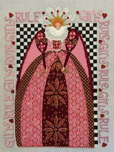 Patricia Sone needlepoint, Curtis Boehringer queen canvas