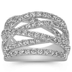 59 Best Criss Cross Diamond Rings images  54ef386d20cf