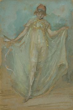 James McNeill Whistler, Green and Blue:The Dancer,c.1893 on ArtStack #james-mcneill-whistler #art