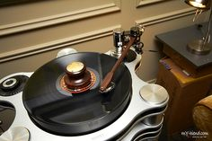 Small record weight handcrafted by Durand Tonearms.