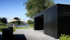 Tuinhuis overdekt terras buitenberging | Arend Groenewegen Architect BNA