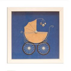 Baby stroller wire art Framed wall art Wall wire by GaliConcept