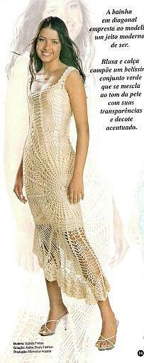 Vestido de piñas asimétrico - 1 de 2