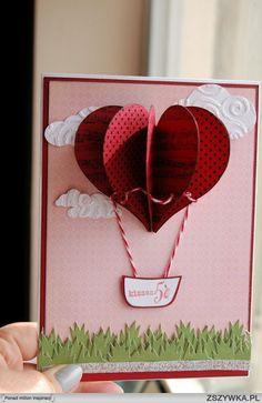 DIY - How to Make a Handmade Valentine Card + Tutorial ! DIY - How to Make a Handmade Valentine Card + Tutorial ! Valentine Love Cards, Valentine Day Crafts, Valentines, Cute Cards, Diy Cards, Tarjetas Diy, Creative Cards, Scrapbook Cards, Homemade Cards