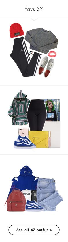 """""""favs 3"""" by locaalvibess ❤ liked on Polyvore featuring adidas, American Apparel, Keds, Topshop, Hot Topic, Mead, Balenciaga, Vans, Stila and plus size clothing"""