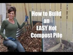 In this episode, I show you how easy it is to build a HOT compost pile that will break down quickly into black gold for your spring garden! Organic Soil, Organic Gardening Tips, Sustainable Gardening, Gardening Hacks, Flower Gardening, Composting At Home, Garden Compost, Vegetable Garden, Best Perennials
