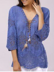 Stylish V-Neck Lace-Up Sleeve Crochet Panelled Blouse For WomenTopsWomen Hoody Summer Spring Autumn Fashion Lace Patchwork Hoodies Backless Shirt…Getting all warm and cozy doesn't need to sacrifice fashion. Wear a lace cardigan today! Pretty Outfits, Beautiful Outfits, Cool Outfits, Casual Outfits, Look Fashion, Fashion Outfits, Trendy Fashion, Autumn Fashion, Fashion Trends