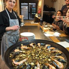 Enjoyed our cooking school in Barcelona. Paella of course was on the menu. #hamptons #homewares #home #kitchen #hamptonstyling #living #interiors #coast #coastal #frenchhomewares #living #style #interiordesign #decor #natural #clock #frames #goldcoast #alfresco #styling #house #gold coast #decorations #copper #planterboxes #white #lovefromvenus #sidetable See www.thingstolove.net - Architecture and Home Decor - Bedroom - Bathroom - Kitchen And Living Room Interior Design Decorating Ideas…