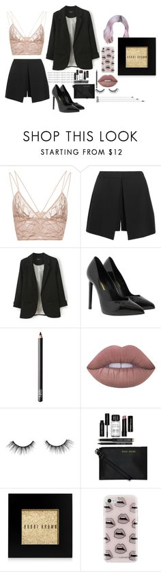 """Sin título #110"" by valusa ❤ liked on Polyvore featuring Jonathan Simkhai, Alexander McQueen, Yves Saint Laurent, NARS Cosmetics, Lime Crime, tarte, Bobbi Brown Cosmetics and Rebecca Minkoff"