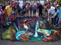 3D Street painting by Julie Kirk Purcell