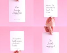 I'm Finally Engaged Postcard Pack of 4