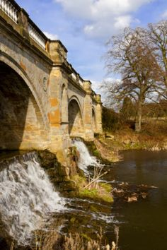 The bridge and cascade at Kedleston Hall, Derbyshire. National Trust - Robert Morris