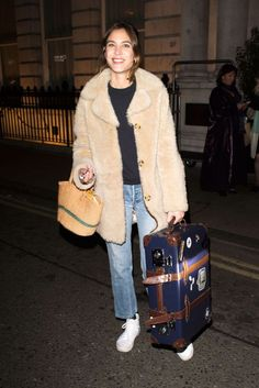 "chungit-up:  ""Alexa Chung leaves her hotel in London 