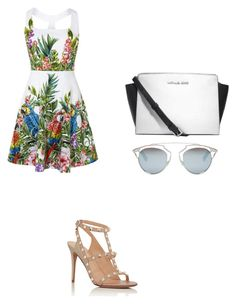 """""""Untitled #185"""" by aandreead ❤ liked on Polyvore featuring Valentino, Michael Kors and Christian Dior"""