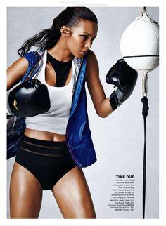 """""""Fighting Form"""" Lais Ribeiro for Self Magazine September 2015"""