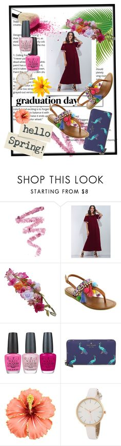 """""""Tropical Graduation🌺"""" by the-crazy-dog-lover ❤ liked on Polyvore featuring Cynthia Rowley, Accessorize, White Label, OPI and Kate Spade"""
