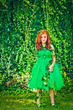 Poison Ivy Costume for Kids  Poison Ivy Tutu Dress  Poison by atutudes | Etsy