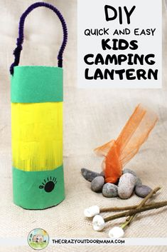 This quick and easy camping lantern craft for kids is so fun! Transform a water bottle into a perfect camp craft for use in school, at camp, or just fun pretend play! Make this camping lantern even fu Camping Snacks, Camping Activities For Kids, Camping With Kids, Camping Tips, Winter Camping, Camping Theme Crafts, Physical Activities, Outdoor Camping, Kids Camping Chairs