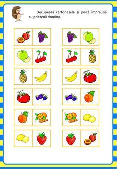 Învățăm jucându-ne: Fructele - Logorici After School, Teacher Resources, Preschool Activities, Diy Crafts, Centre, Special Education, Make Your Own, Homemade, Craft