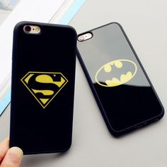 £0.99 GBP - Superman Batman Case For Iphone 6 6S 7 Plus Rugged Mirror Cover For Iphone X 8 #ebay #Electronics