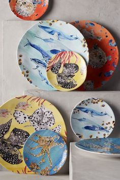 Under The Sea Melamine Dinner Plate - anthropologie.com #WishBigWinBigContest #wedding #registry