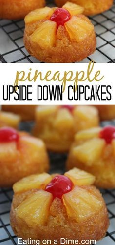 You have to try these Pineapple Upside Down Cupcakes - you get the flavor of the loved pineapple upside down cake in the convenience of a cupcake!