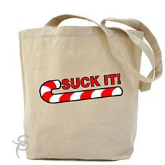 Suck It Candy Cane Tote Bag
