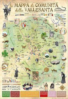 > Mappa di Comunità della Vallesanta (Ar)