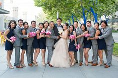 Blue and Pink Wedding  - PHOTO SOURCE • VIVIAN CHEN PHOTOGRAPHY