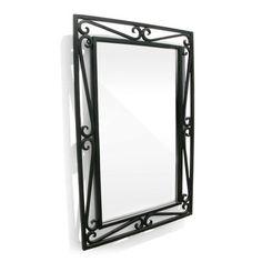 Black Iron Wall Mirror