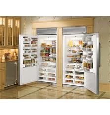 Monogram 36 Inch Professional Built-In Upright Freezer with cu. Capacity, Water Filtration System, Halogen Lighting System and Temperature Management System in Stainless Steel Foyers, Cubes, Monogram Appliances, Commercial Appliances, Upright Freezer, Professional Kitchen, Open Kitchen, Kitchen Interior, Modern Kitchen Design