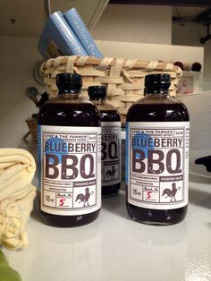 In Store Now: Chef & the Farmer's handcrafted Blueberry BBQ Sauce ($12.00) will add a flavorful kick to a variety of your summer dishes.