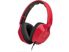Not even you can be ready for the supreme sound of the Crusher headphones from Skullcandy. The smooth red design and leather-touch ear pillows give these bass boosting headphones a classy look and serious sound. Gaming Headphones, Over Ear Headphones, Ipod, Studio Equipment, Estilo Retro, Red Design, Online Deals, Gadgets, Models