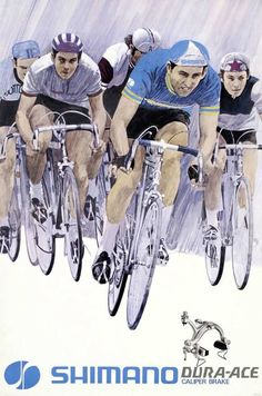 Vintage Shimano Dura-Ace Caliper Brake ad! Visit us @ https://www.wocycling.com/ for the best online cycling store.