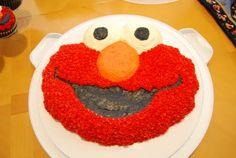 Elmo Birthday cake and Cupcakes