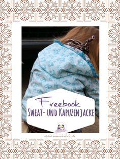 Freebook Schnittmuster für eine Sweatjacke und Kapuzenjacke 68-146