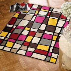 The Mod Bloc Rugs from the Retro Funky collection boasts a design that pays homage to the hey days of the 50's, 60's and 70's. #Colourful #Modern