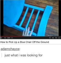 This recently happen with my blue chair and I just didn't know where to grab and how to pull it up. So useful. I thought in would have to get a new chair. (Note: extreme sarcasm)
