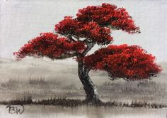 Buy 'Bonsai IV' ACEO 2017- 259 Miniature  Oil Painting, Oil painting by Pip Walters on Artfinder. Discover thousands of other original paintings, prints, sculptures and photography from independent artists.