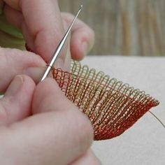 Wire pomegranate pattern wire crochet tutorial wire work by Yoola