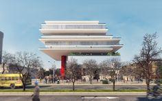 hk+b Rendering Visualization for Project: Varna Library Architect: hk+b Architecture Location: Varna - BULGARIA