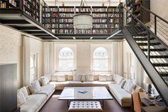 Loft Library  Mitä tapahtuu kaikille näille mahtaville kirjahyllyille kun kaikki kirjat ovat digitaalisia??