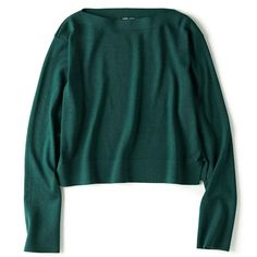 WOMEN U MERINO-BLEND BOAT NECK CROPPED SWEATER