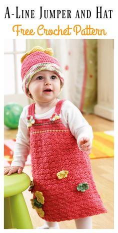 A-Line Jumper and Hat Set Modèle Crochet gratuit