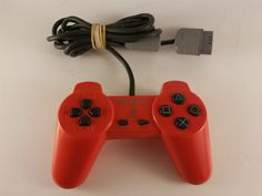 OFFICIAL Red Non-Dualshock Sony Playstation 1 PS1 Controller- FREE SHIPPING! #Sony