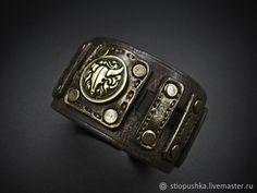 браслет кожаный украшения ручной работы © https://www.livemaster.ru/item/edit/25432359